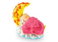Сахарное украшение Младенец на месяце Девочка