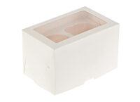 Короб для капкейков с окном белый 2