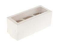 Короб для капкейков с окном белый 3