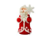 Сахарное украшение Дед Мороз_с посохом