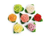 Сахарное украшение Набор Розы с листиками