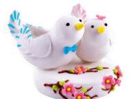 Сахарное украшение Свадебные птицы