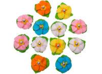 Сахарное украшение Цветочек с росинкой и листиками