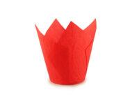 Форма бумажная Тюльпан d50 h150 Красный