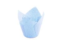Форма для выпечки тюльпан 150x150 голубой