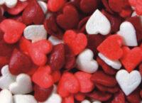 Посыпка кондитерская сахарная 1кг Сердечки №3