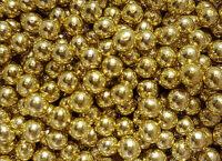 Шарики сахарные золото 7 мм