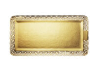 Поднос прямоугольный золото Леонардо