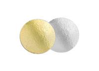 Подложка для тортов №22 круглая 220 золото-серебро 0.8