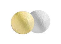 Подложка для тортов №24 круглая 240 золото-серебро 0.8 мм