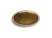 Поднос кондитерский D200 mm золото Leonardo