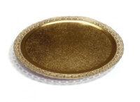 Поднос кондитерский D350 mm золото Leonardo