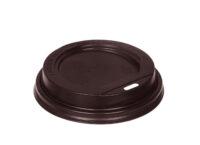 Крышка для стаканов полипропиленовая с питейником коричневая