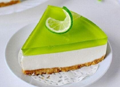 Agar-agar_Желейный торт лаймовый