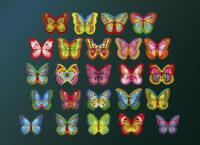 Вафельный декор Бабочки разноцветные двухсторонние (180 штук) hk27232