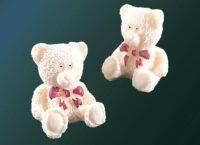 Декоративные сахарные фигурки 40x40x50 mm Медвежонок светлый