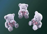Декоративные сахарные фигурки 40x40x50 mm Медвежонок серый